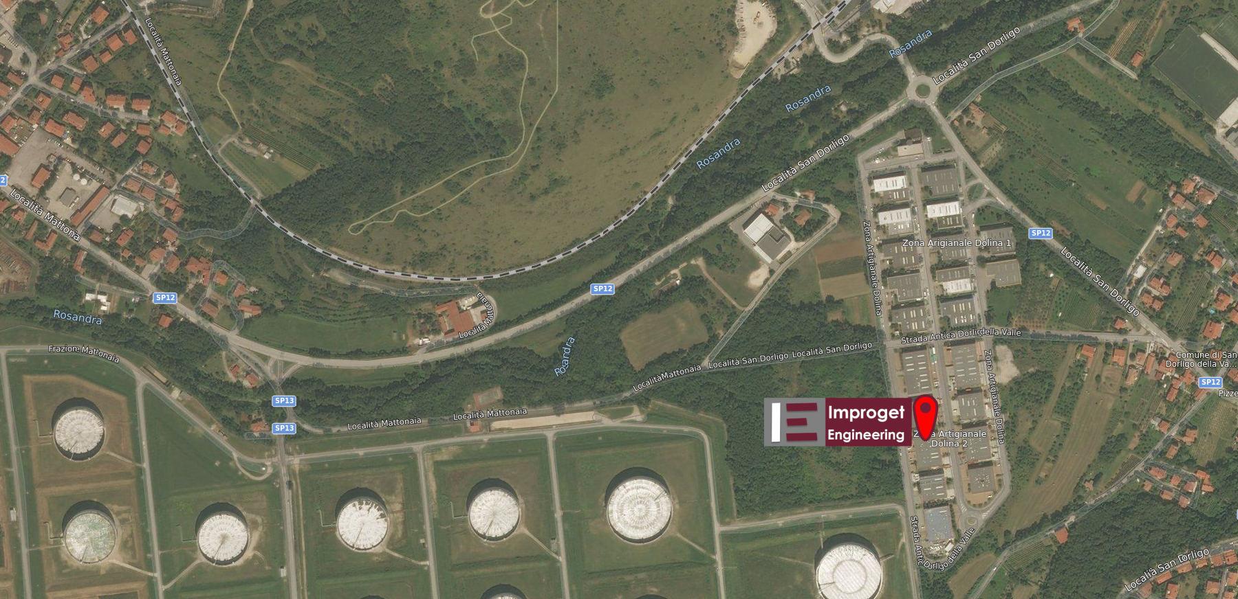 Dove siamo - Improget Engineering s.r.l. - Località Dolina 548/2 34018 Trieste (TS)